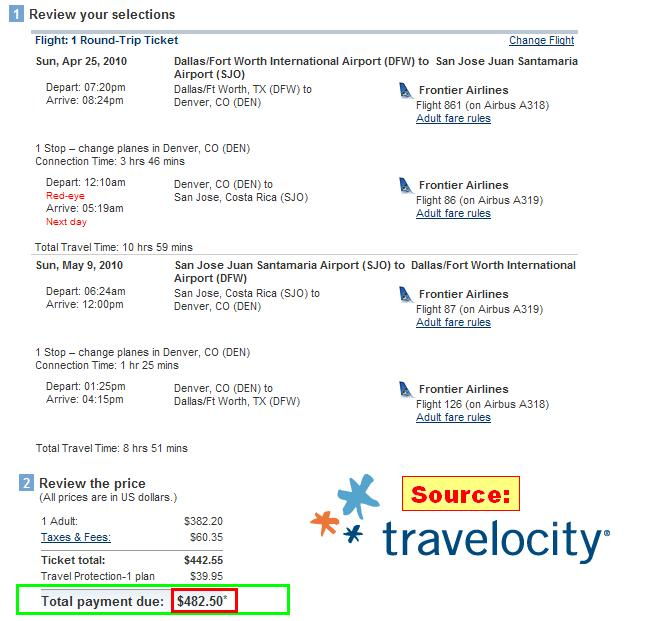 Travelocity Flights